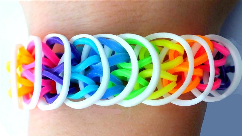 como fazer pulseira de elastico