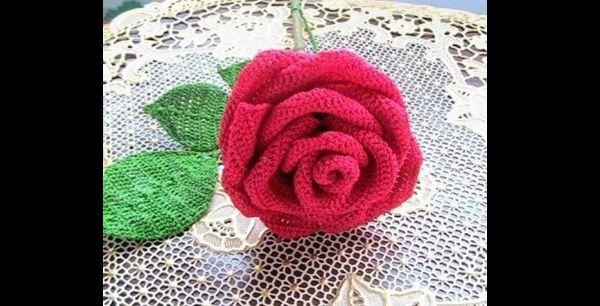 rosa de croche