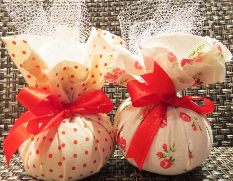 sache perfumado de sagu com tecido