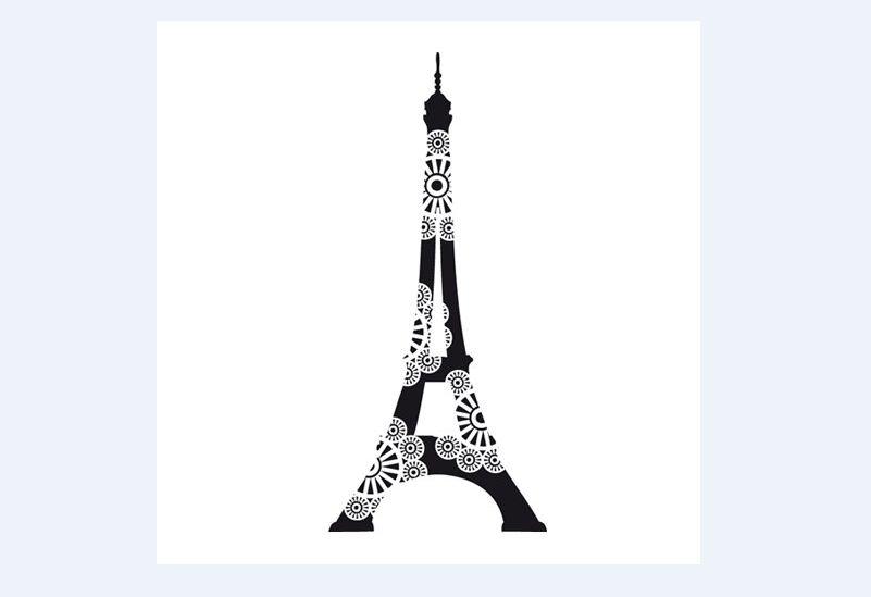 torre Eiffel com flor
