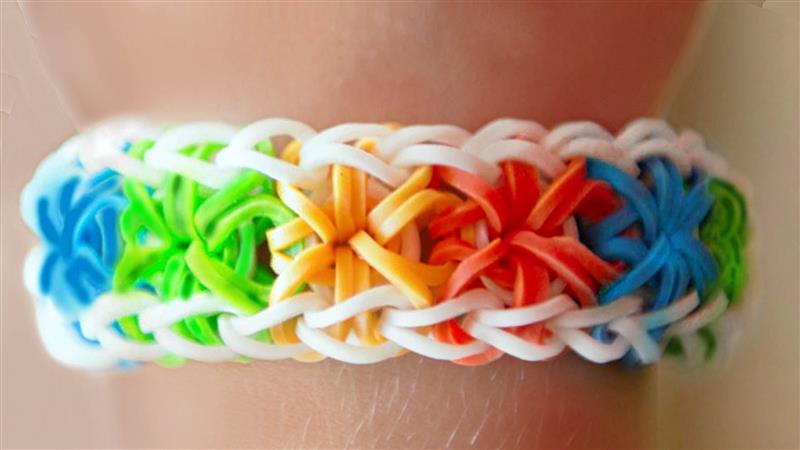pulseiras de elasticos sem tear