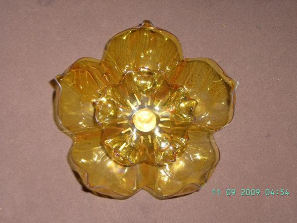 flor de garrafa pet amarela