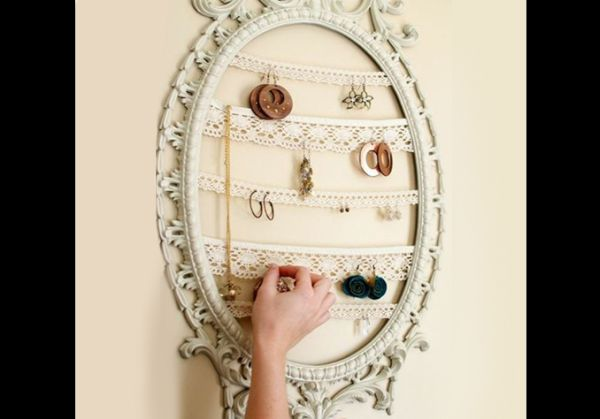 porta joias com moldura