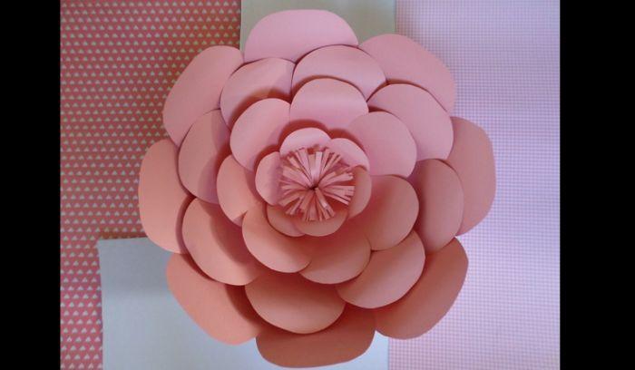 rosas de papel salmão