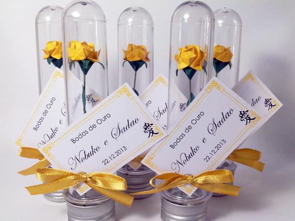 lembrança bodas de ouro tubete