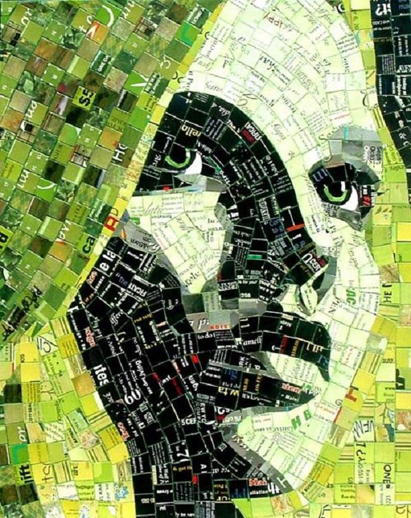 mosaico de papel moça