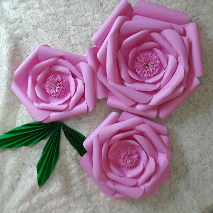 rosas de papel pink