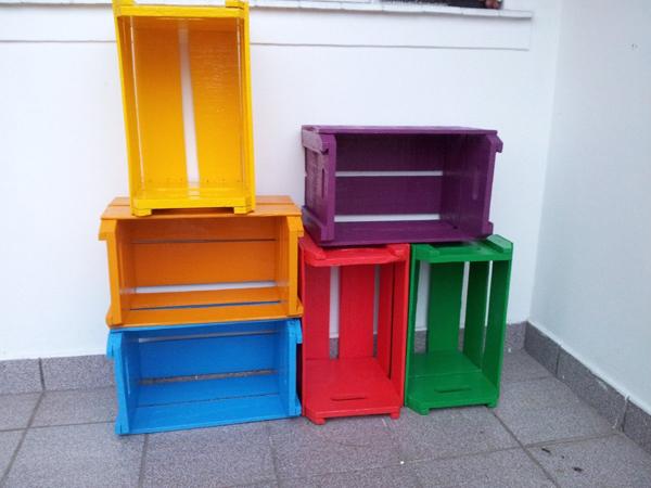 caixote de feira pintado