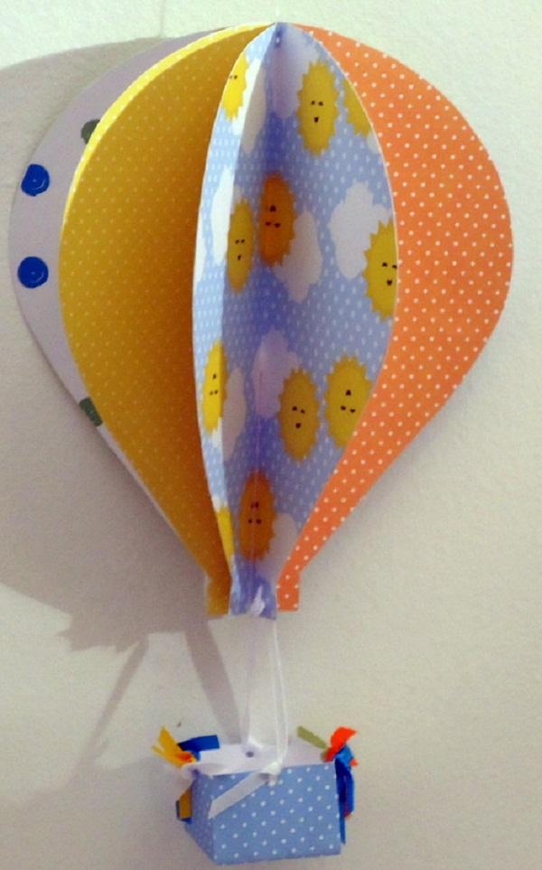 balão com papel grosso