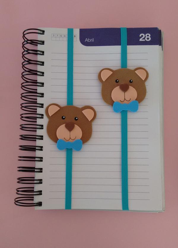 marcador de livro em eva de urso