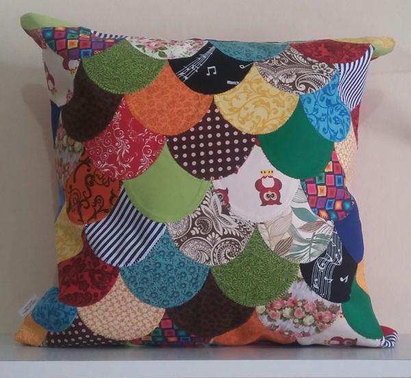 patchwork na almofada