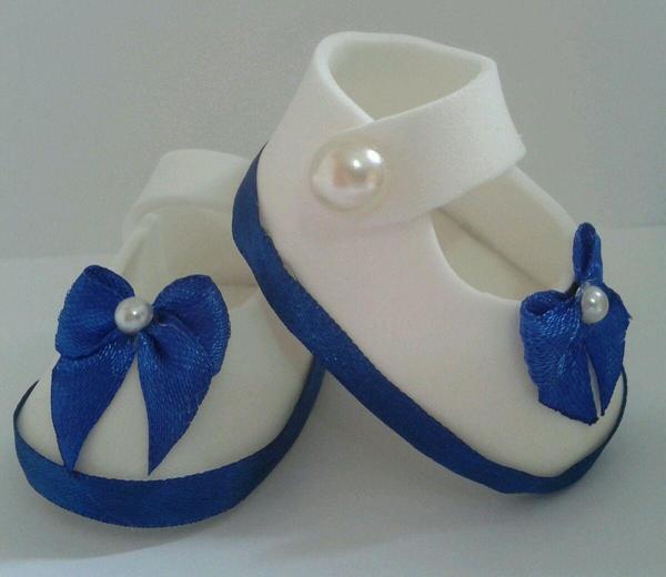 sapato de eva azul e branco