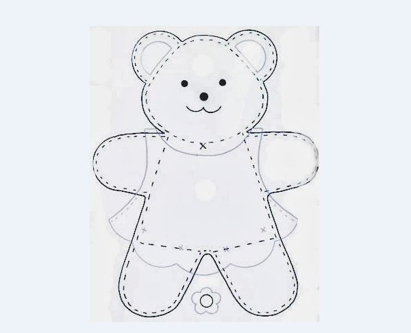 Molde De Urso Em Feltro Artesanato Passo A Passo