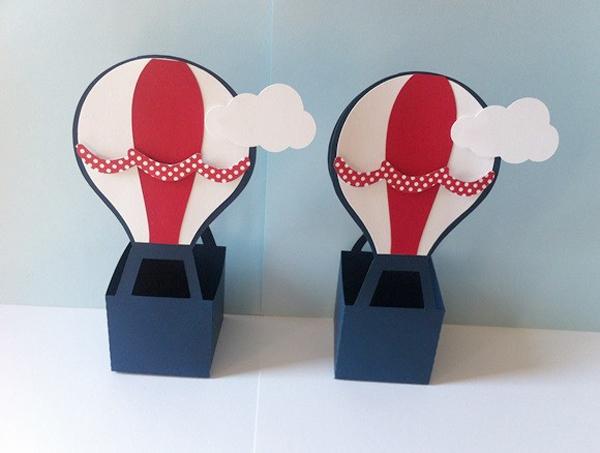 caixinha com balão com papel