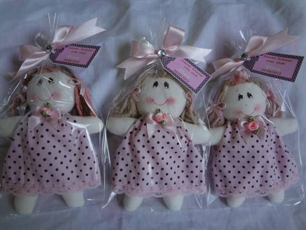boneca de tecido embalada