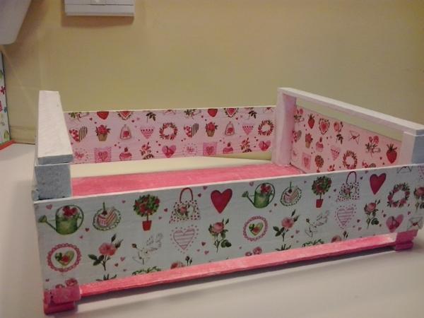 caixote de feira rosa