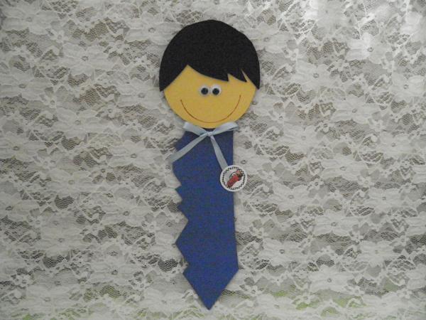 marcador de livro em eva de chave