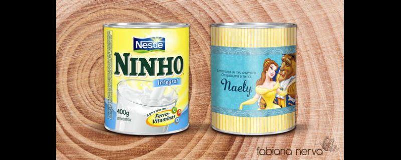 lata de leite decorada lembrancinha