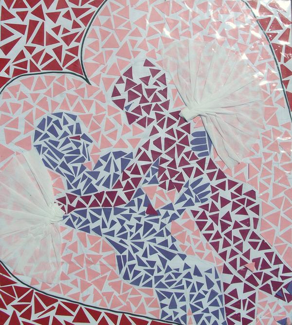 mosaico de papel casal