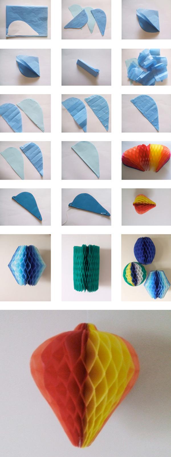 balão com papel de seda