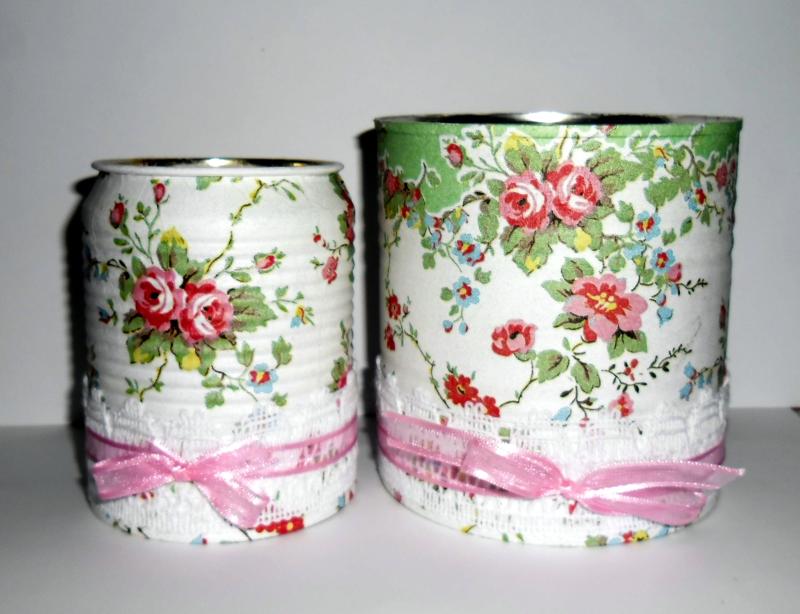 lata de leite decorada com fita