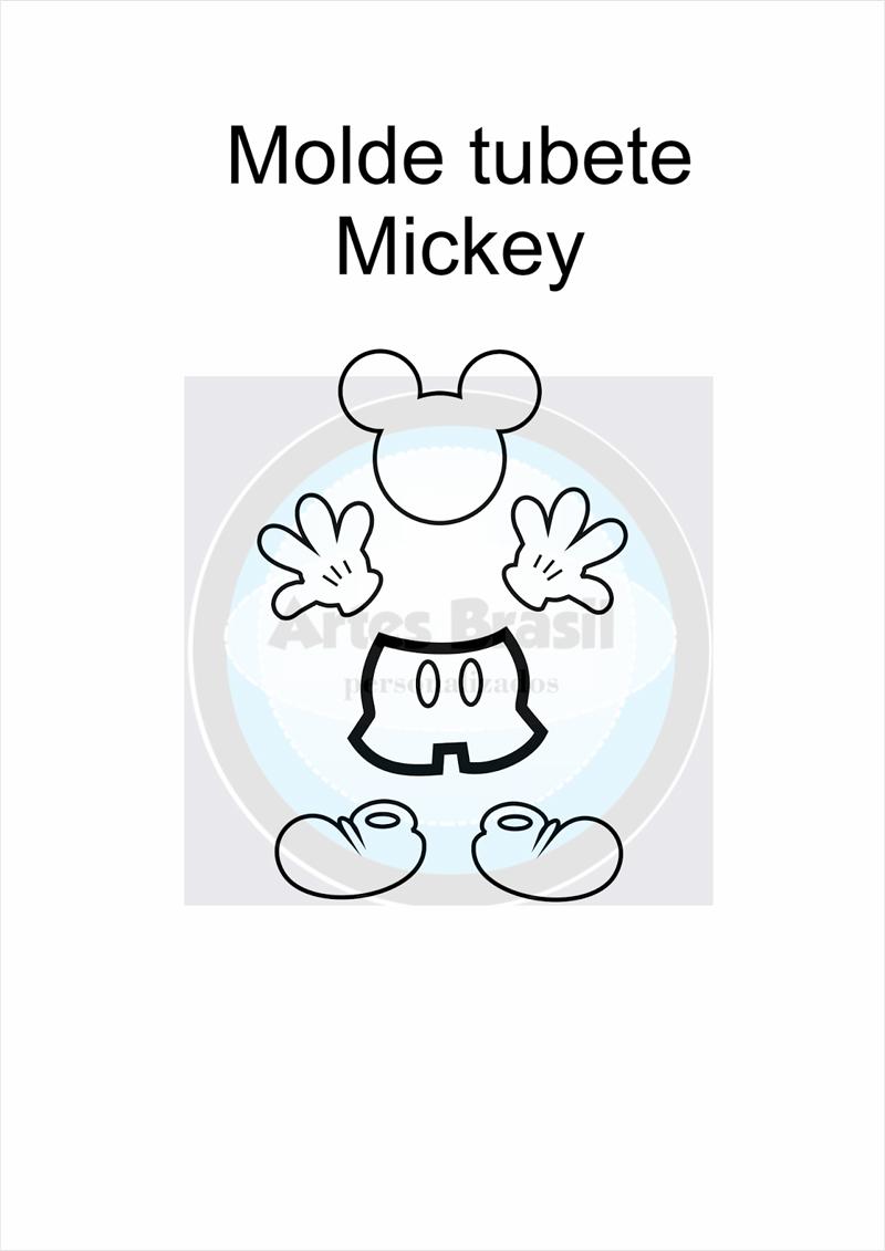 molde do Mickey