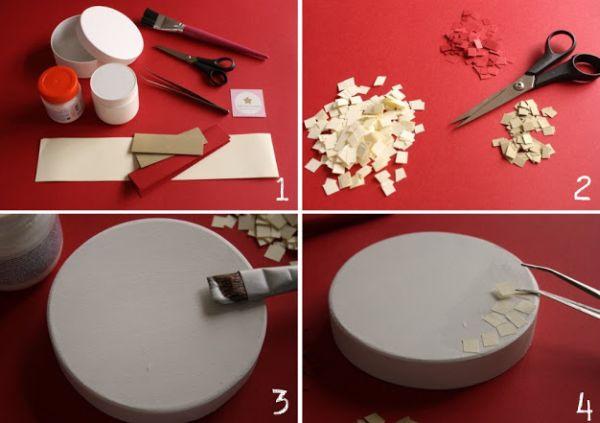 mosaico de papel como fazer