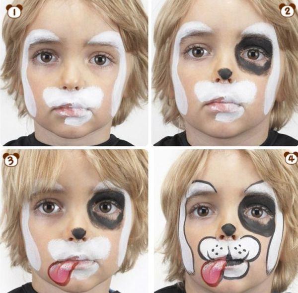 pintura em rosto cão