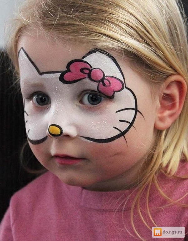 pintura em rosto hello kitty