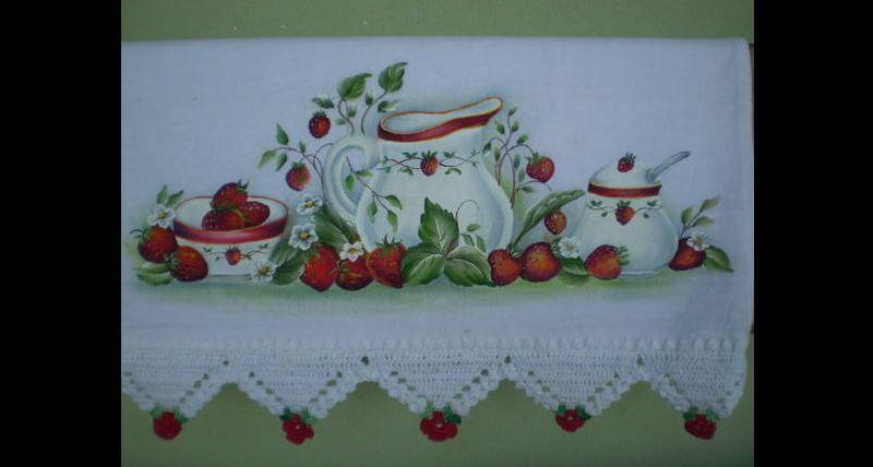 pintura em pano de copa jarro