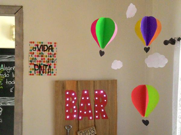 enfeite de balão com papel