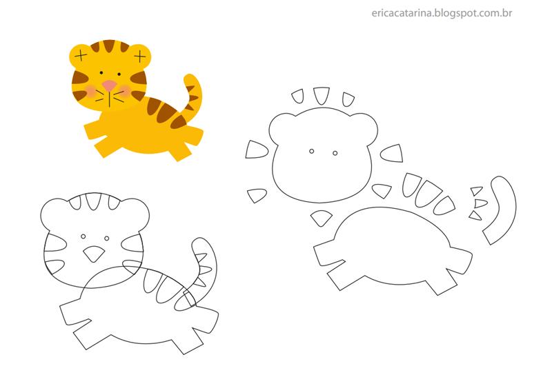 animais em feltro tigre
