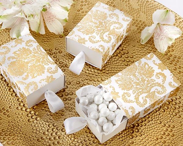 lembrança bodas de ouro caixinha de doce