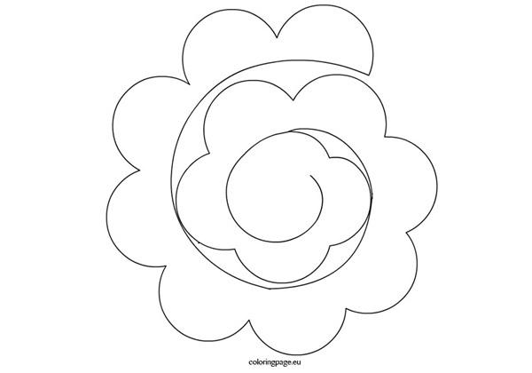 flor em EVA em espiral