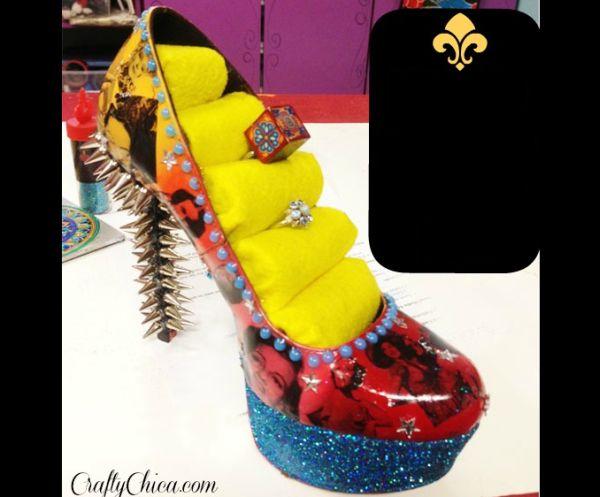porta joias com sapato