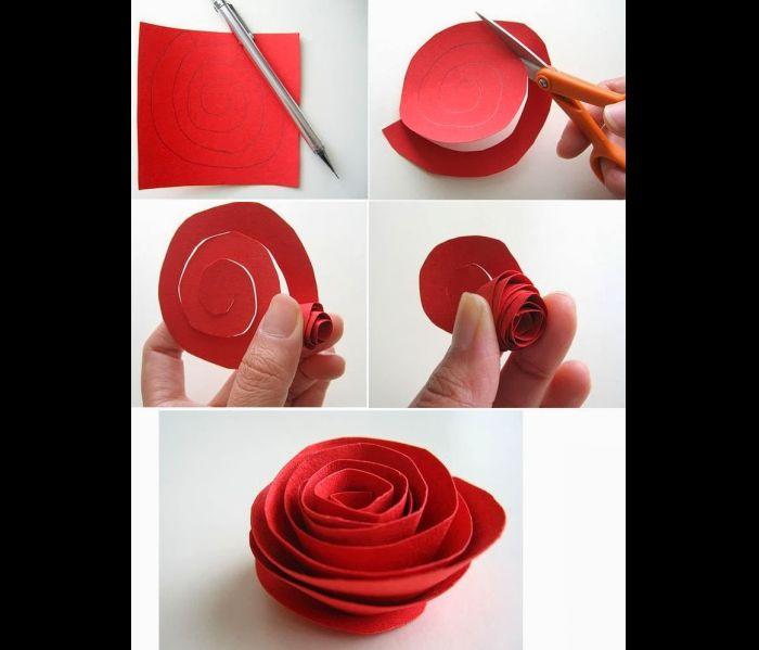 rosas de papel grosso