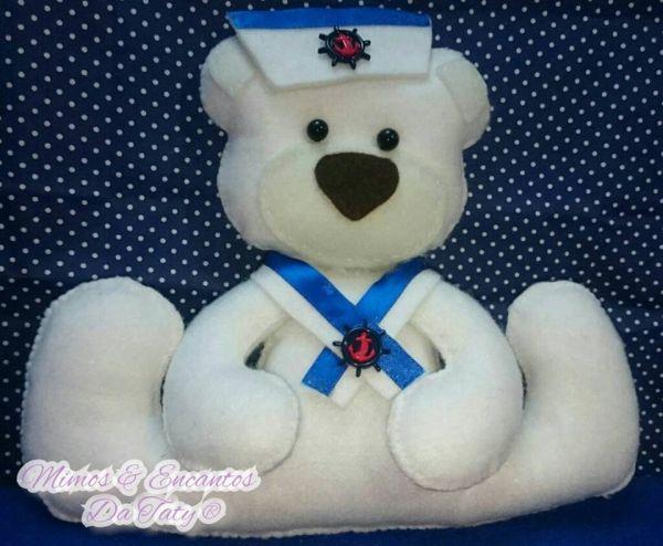 urso em feltro marinheiro