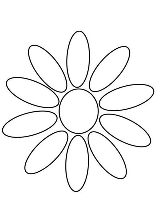 molde simples de flor em EVA