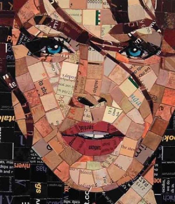 mosaico de papel de revista