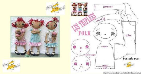 boneca de tecido diferente