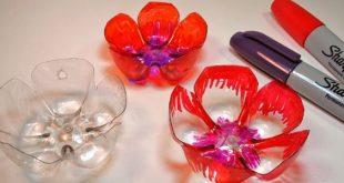 Como Fazer Flores de Garrafa Pet