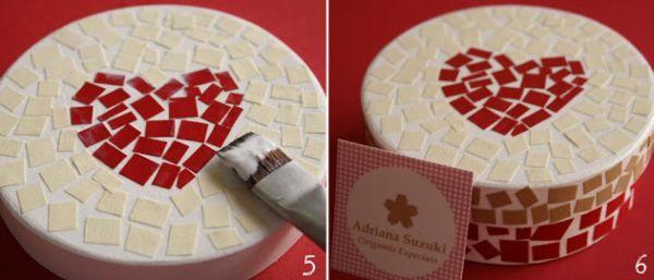 passo a passo mosaico de papel