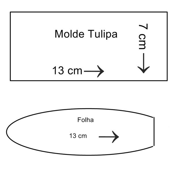 molde de tulipa de tecido