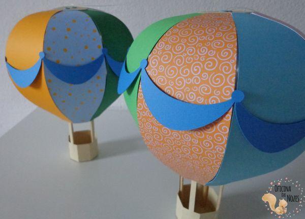 balão com papel para mesa