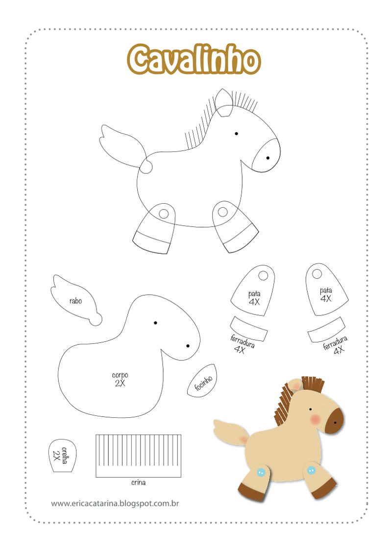 animais em feltro cavalo