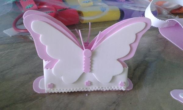 porta guardanapo de borboleta