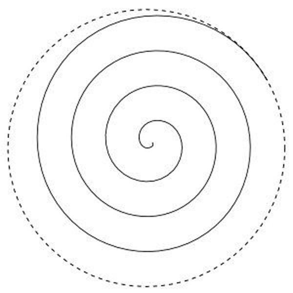 molde rosa espiral