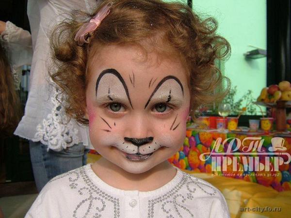 pintura em rosto gato