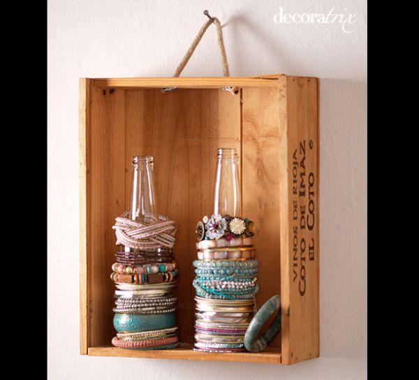 porta joias com caixa de madeira