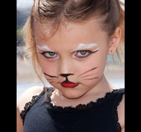 pintura em rosto gatinha